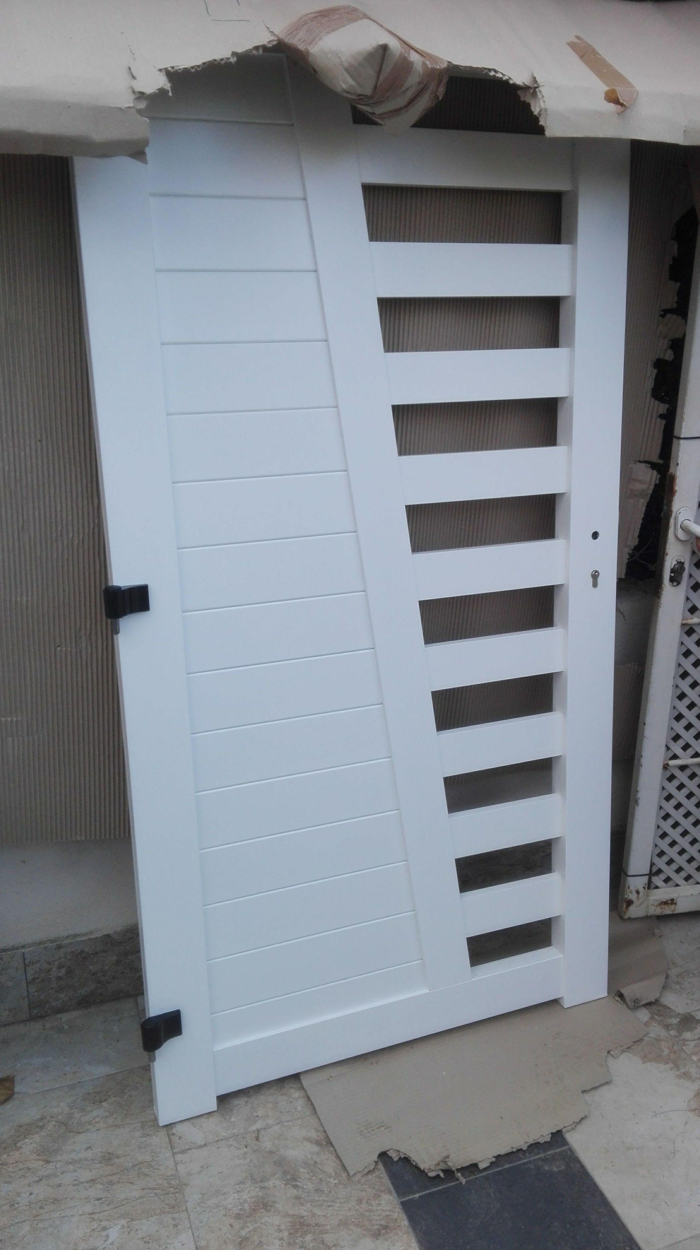 Puertas y Valla de Parcela de Alumino Blanco2 FAREM AGMA
