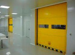 Puertas rápidas de lona y pvc enrollables interior