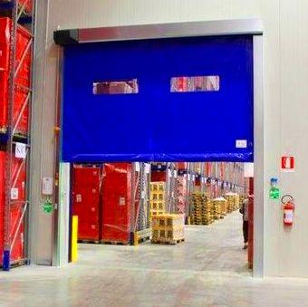 Puertas automáticas rápidas de lona y pvc enrollables autorreparables