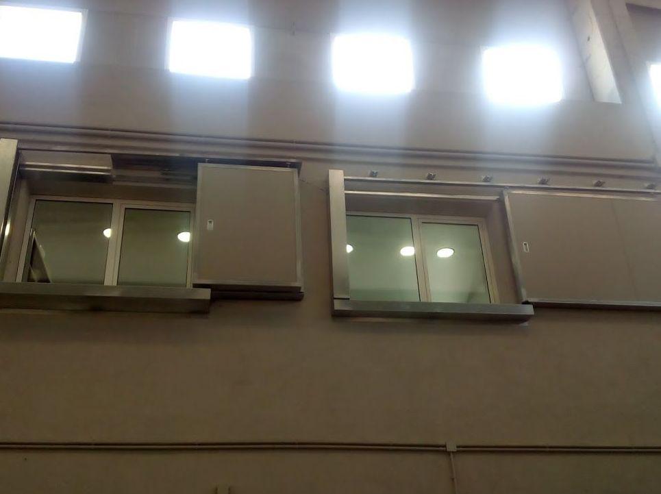 Puertas cortafuegos correderas certificadas para ventanas