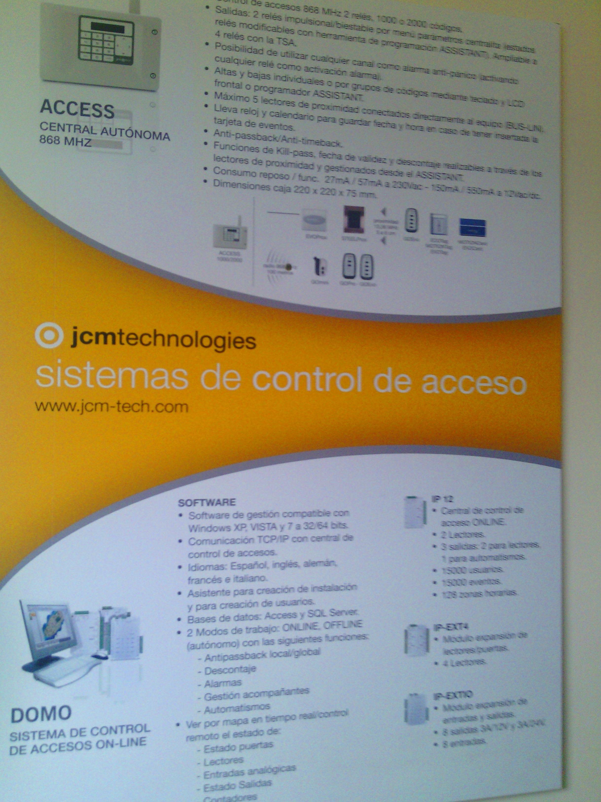 Centrales para control de accesos
