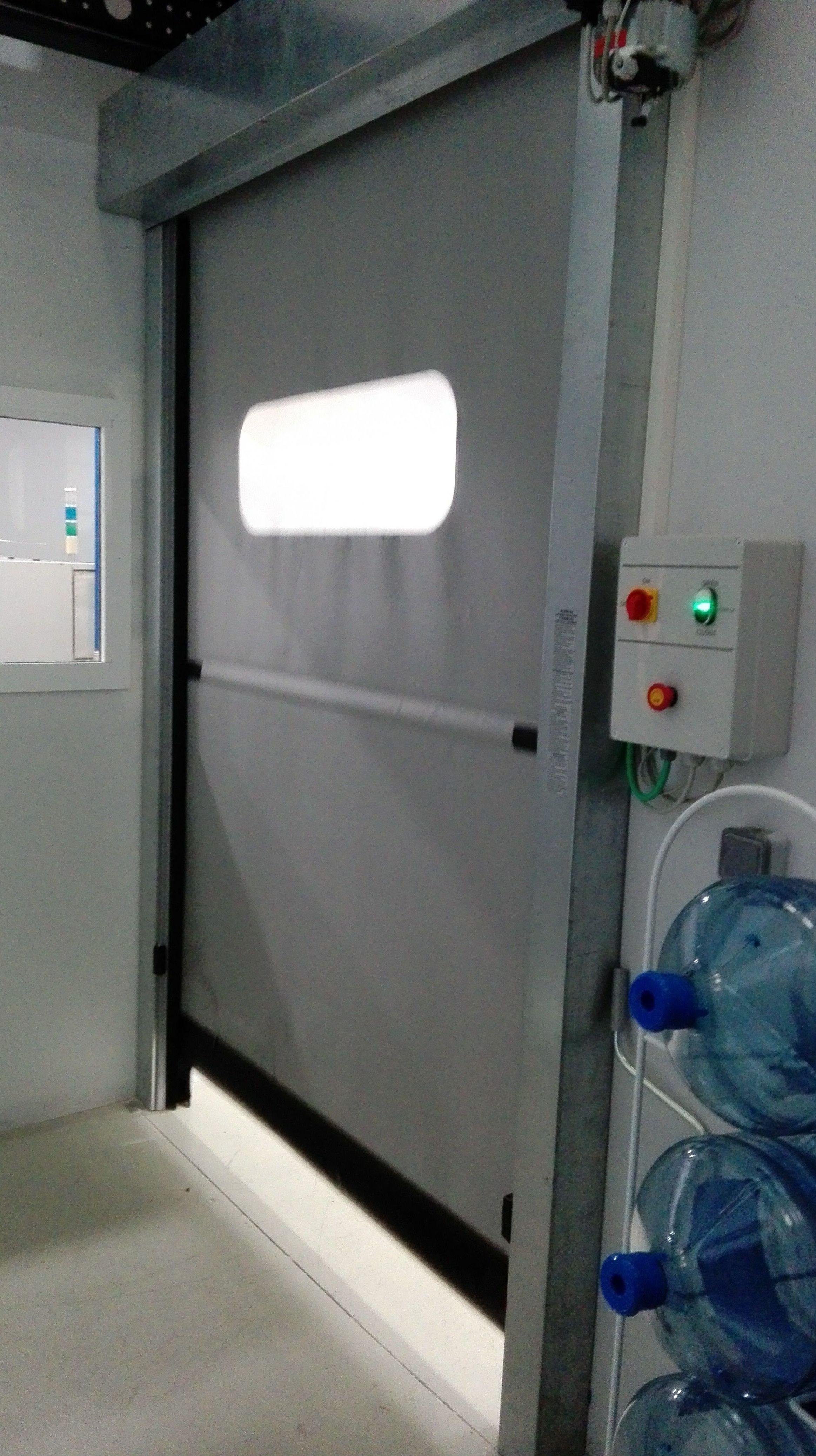 Puertas rápidas de pvc anti desgarro enrollables