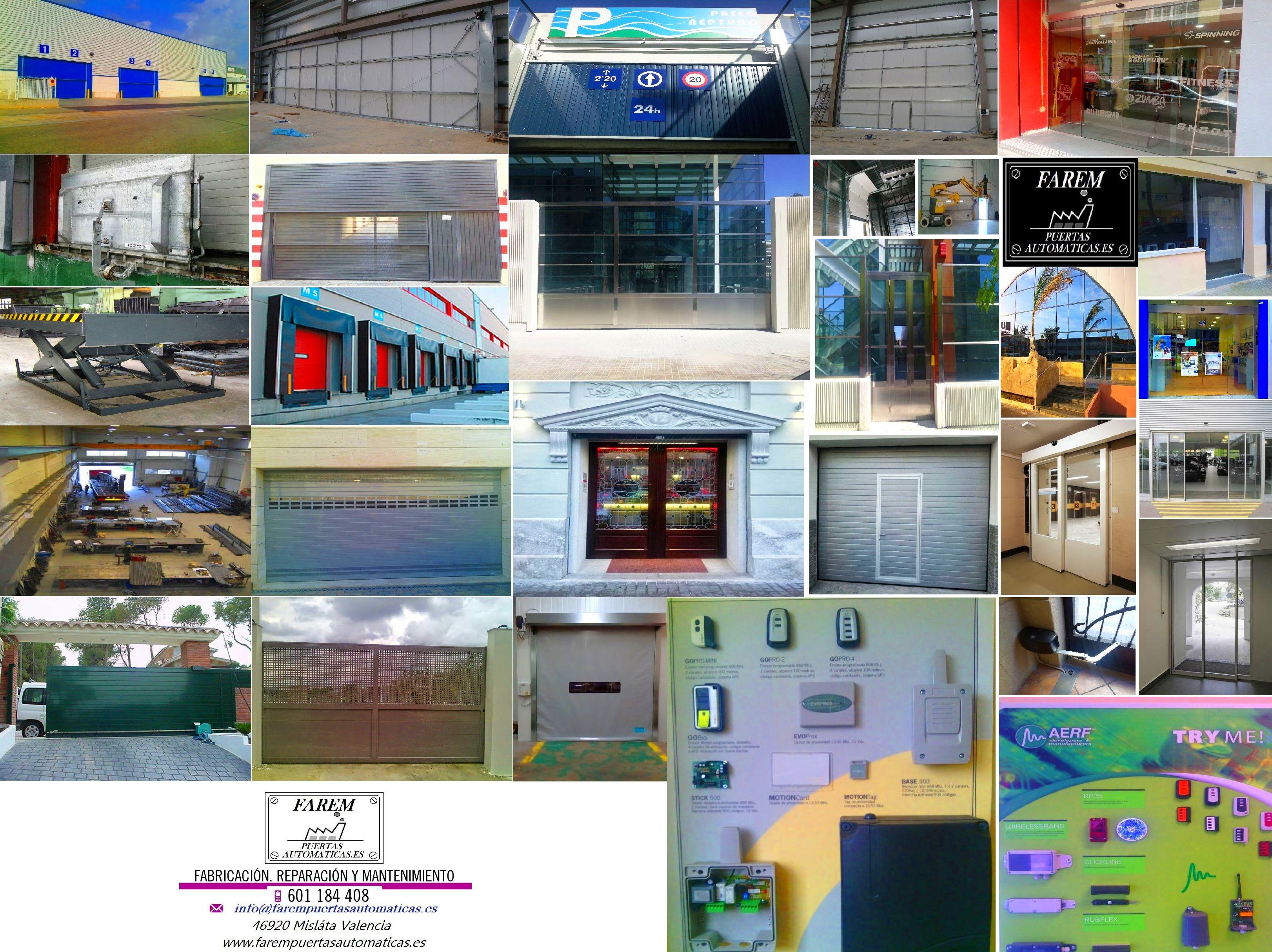 Productos y servicios de Farem Puertas Automáticas