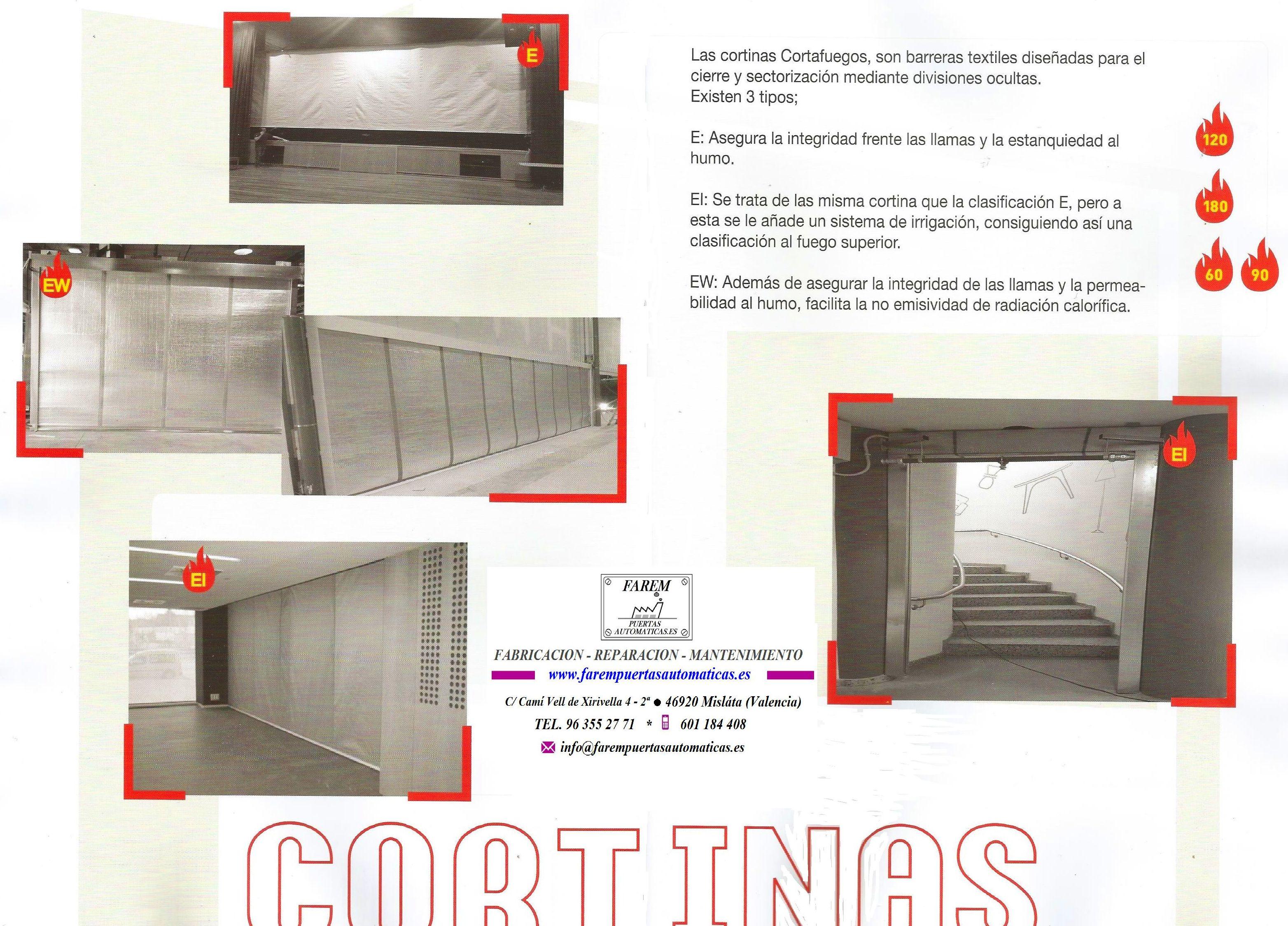 Sistemas de Cortinas textiles cortafuegos certificadas