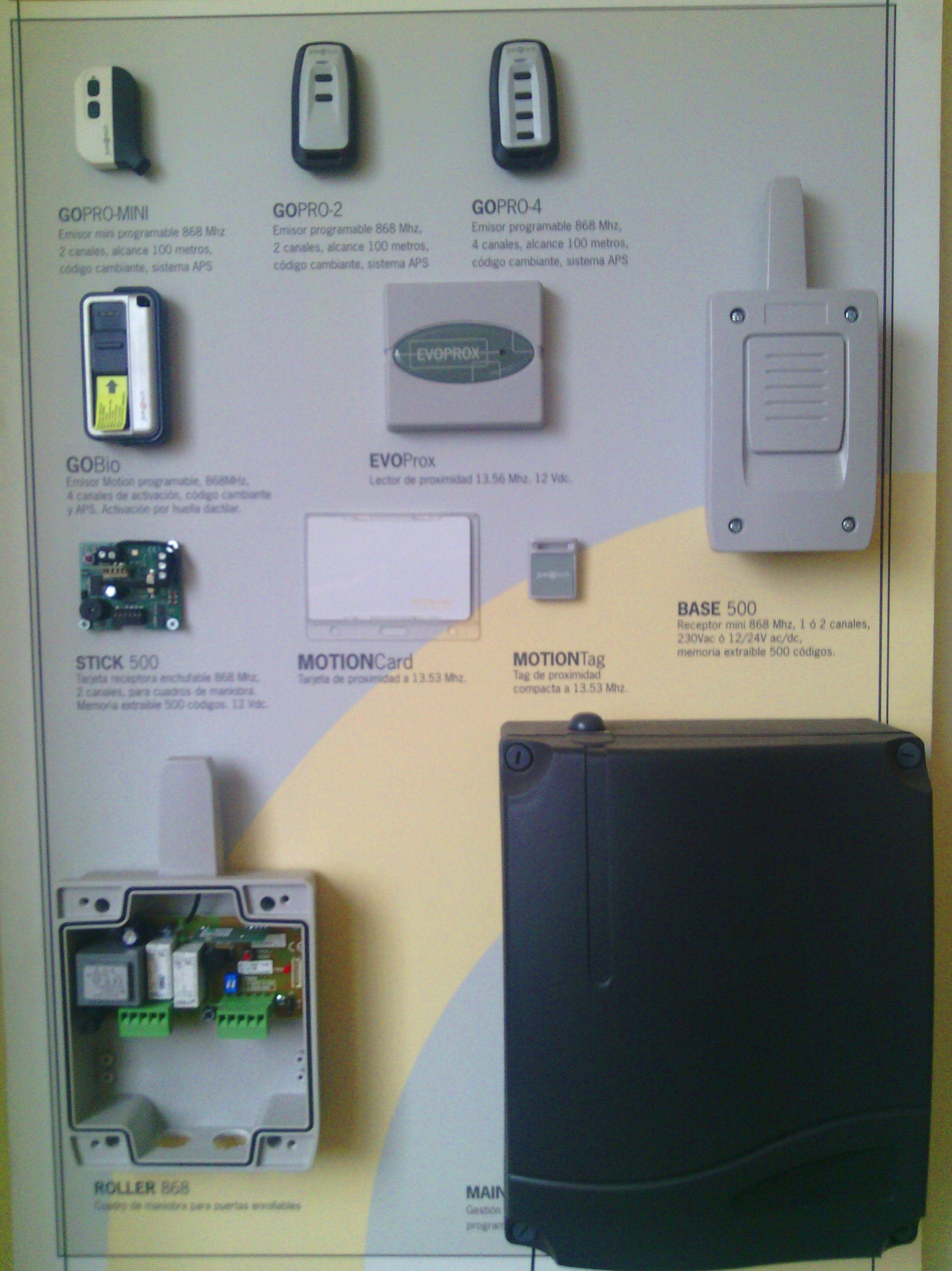 Sistemas de apertura para puertas , mandos, tarjetas, llaves de proximidad y huella digital