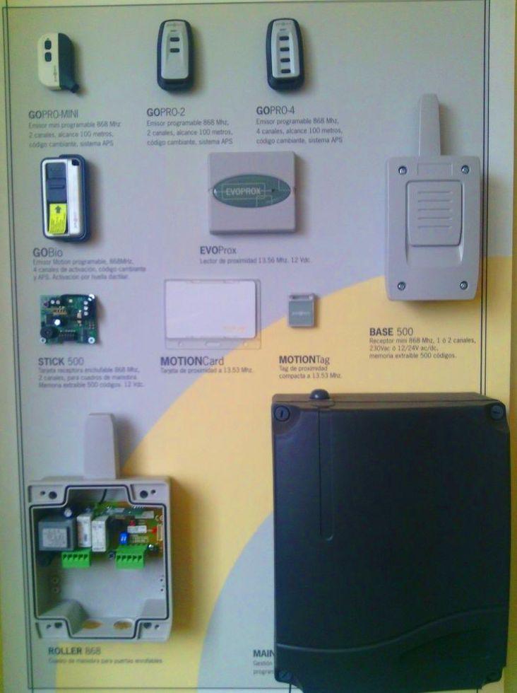 Sistemas de apertura, mandos, tarjetas, llaves de proximidad y huella digital
