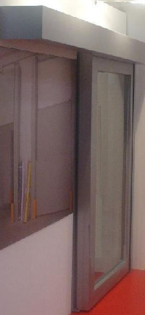 Puerta corredera de cristal rápida automática cortafuegos