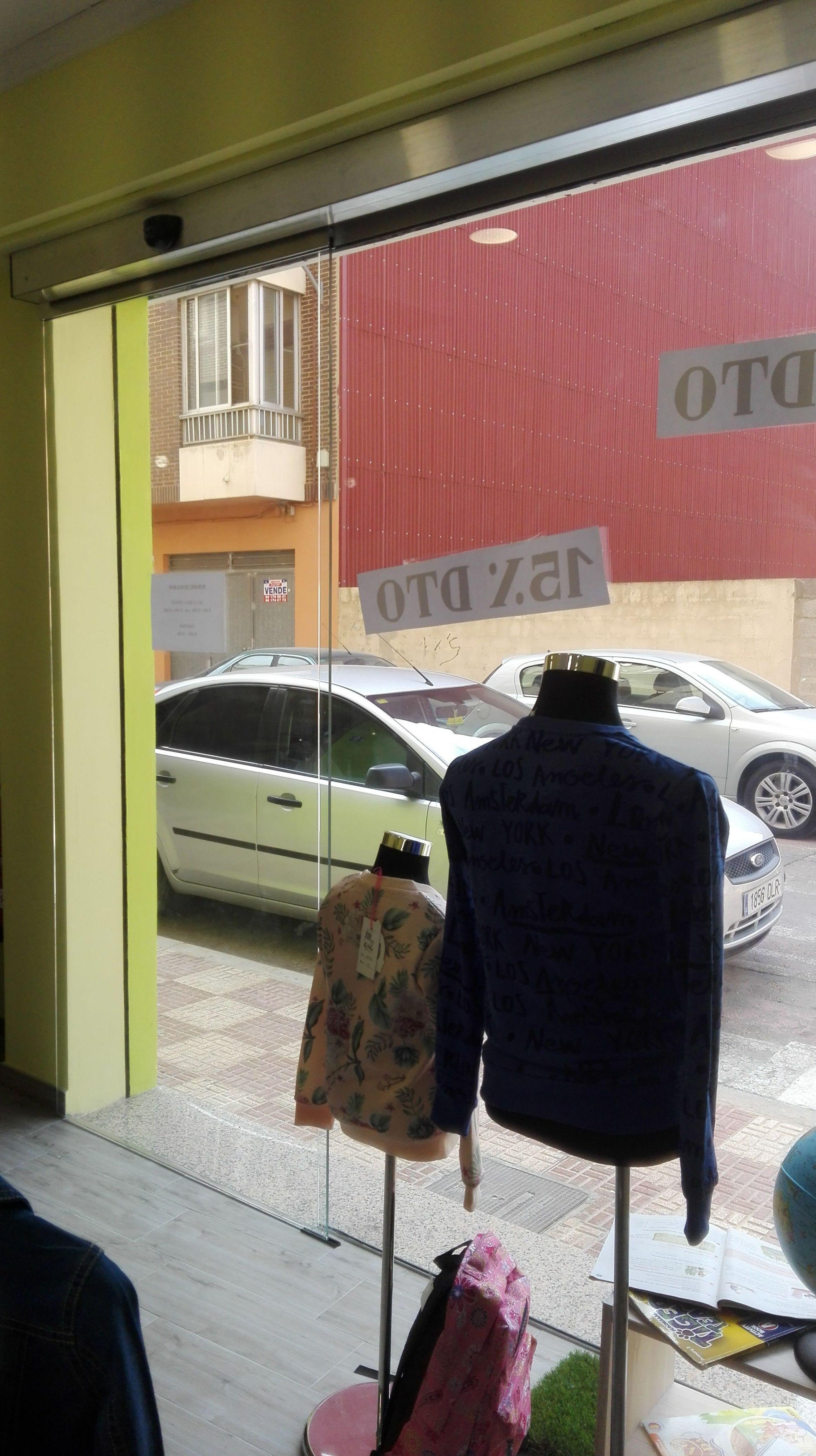 Puerta de cristal corredera automática de 1 hoja cristales seguridad