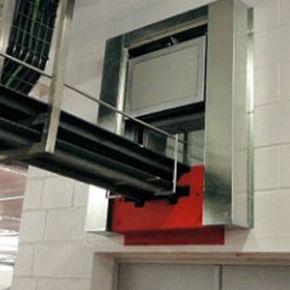 puerta guillotina cortafuegos transportador