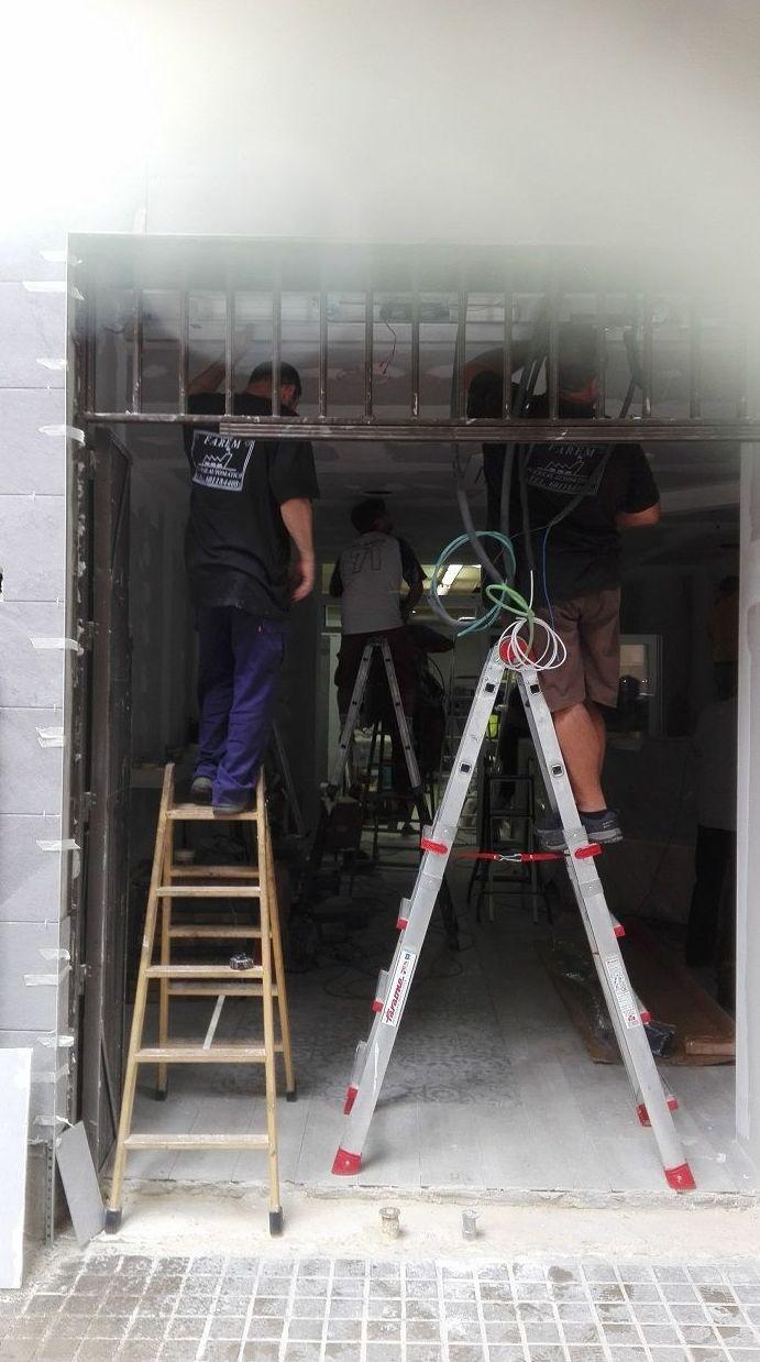 Puerta de cristal corredera automática 1 hoja Panadería montaje de mecanismo