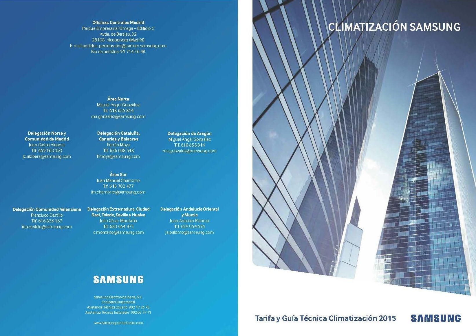 Tarifa Samsung 2015 - 2016