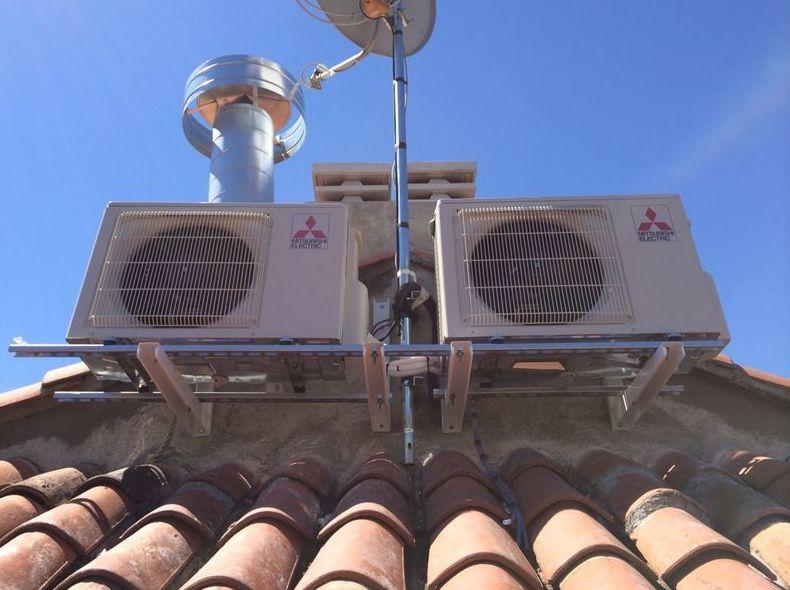 Unidades exteriores aire acondicionado en cubierta