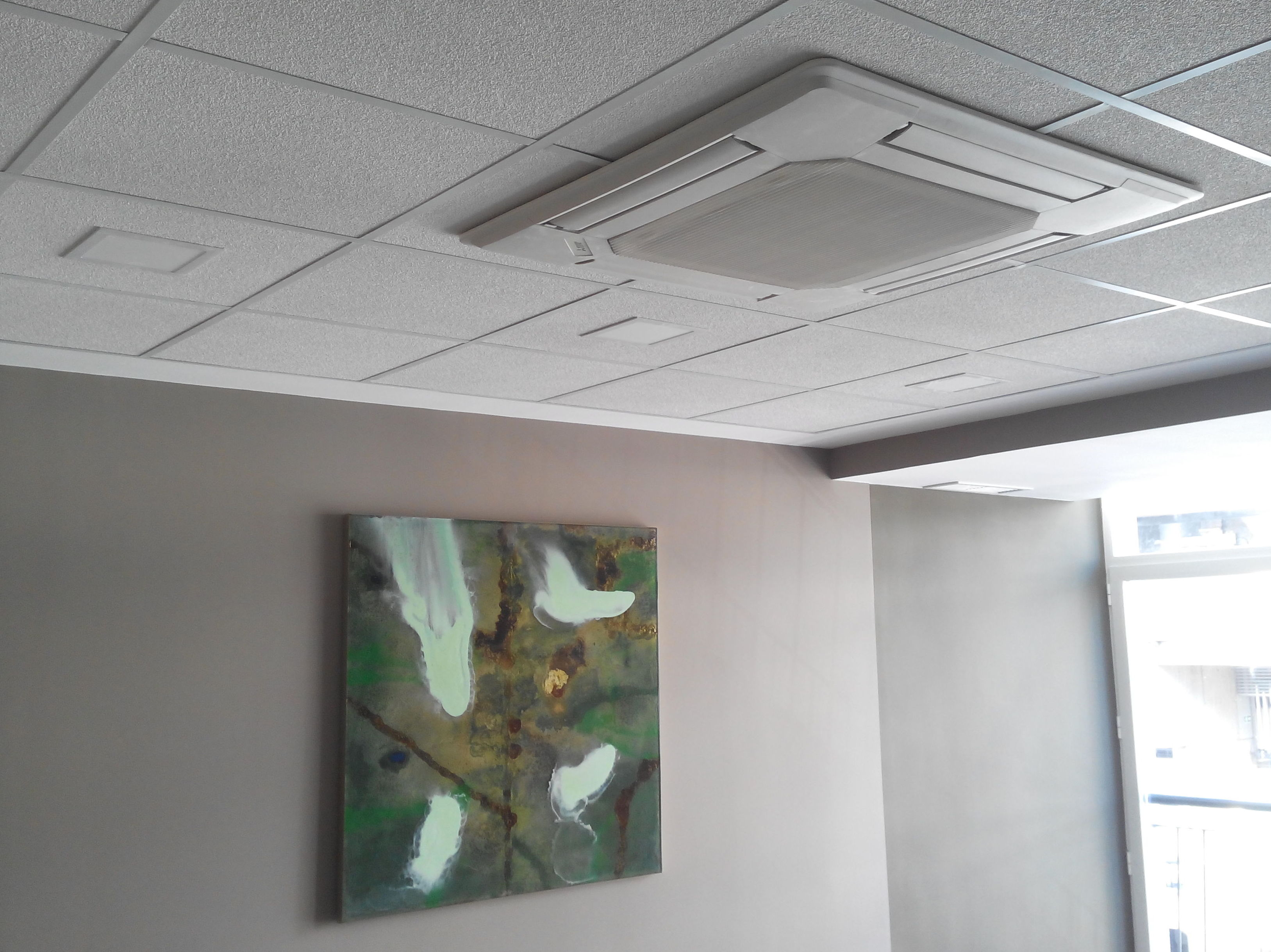 Aire acondicionado en sala de formación