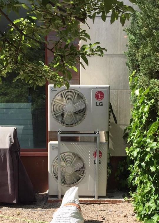 Unidades exteriores climatización con bancada