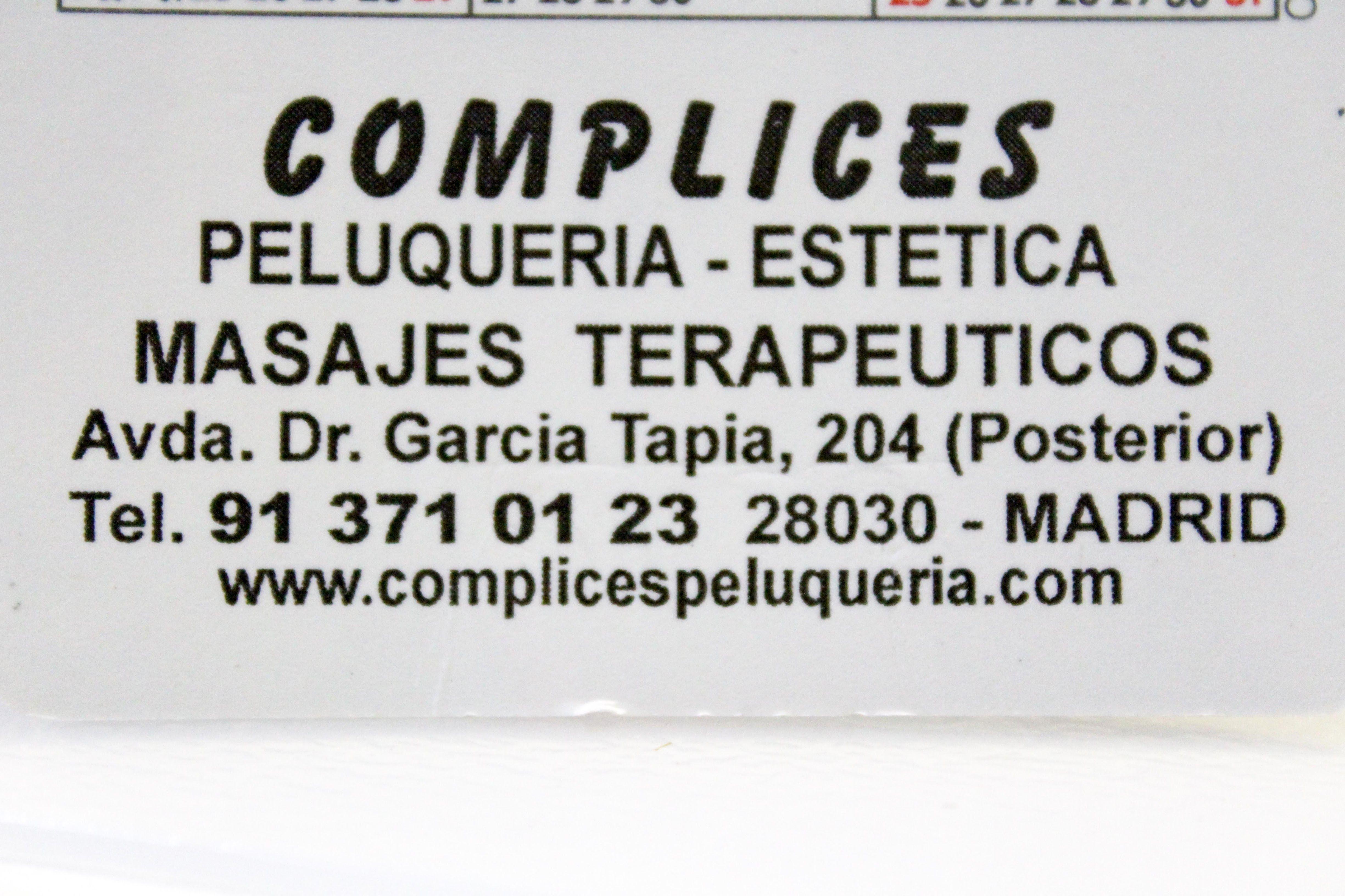 Foto 2 de Peluquería y estética en Madrid | Cómplices Peluquería y Estética