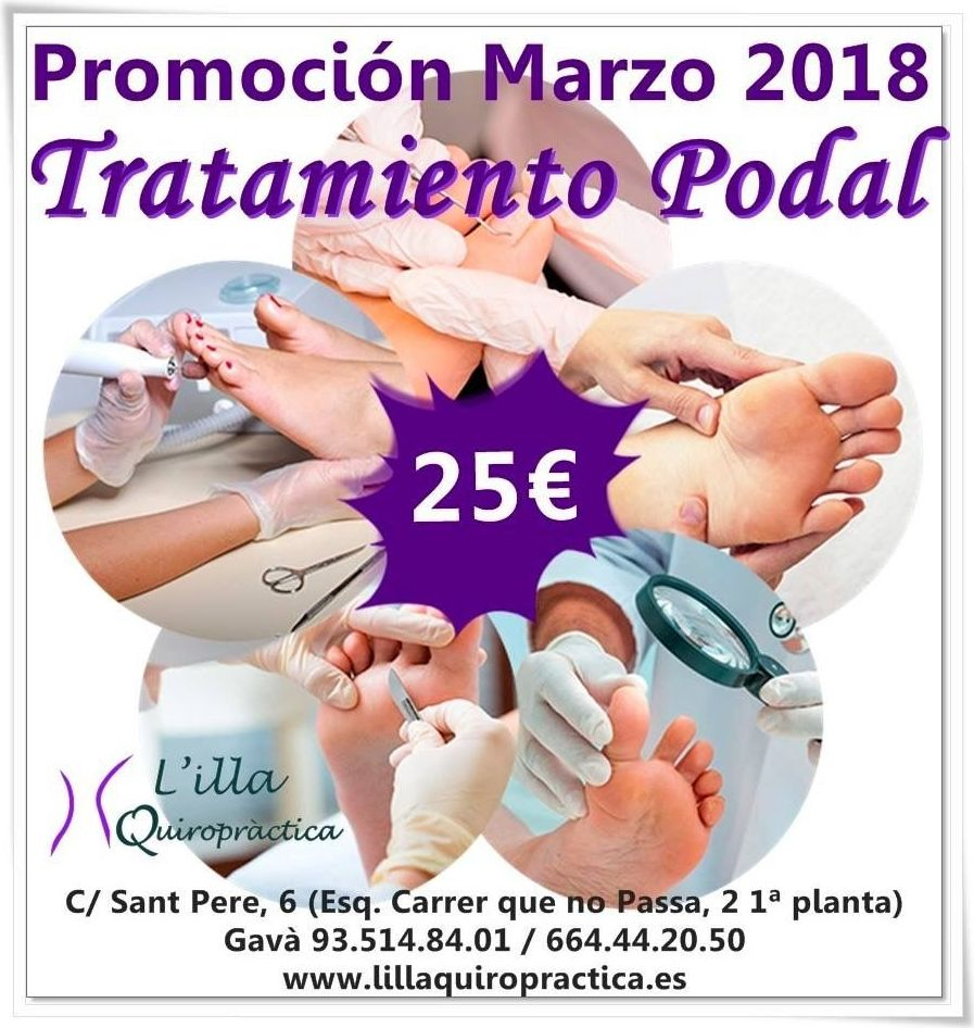 Promoción Marzo 2018 Tratamiento Podal