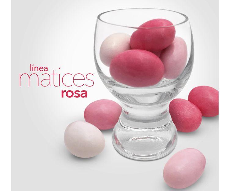 Bombones con nuestra línea rosa