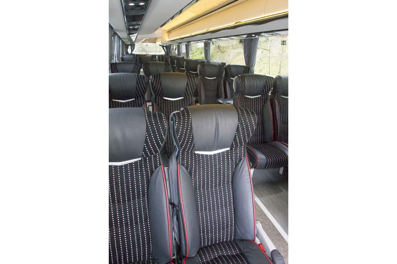 Interior de uno de nuestros autobuses