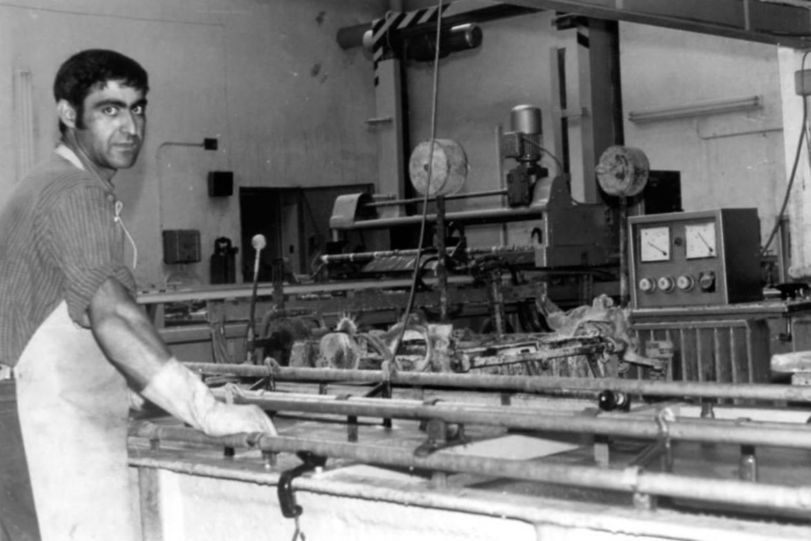 Galvánicas Girona en nuestro primer emplazamiento en L' Hospitalet. 1962.