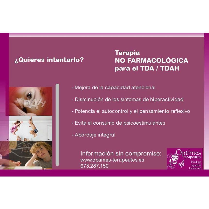 Terapia no farmacológica para TDA/TDAH: Servicios de Optimes Terapeutes