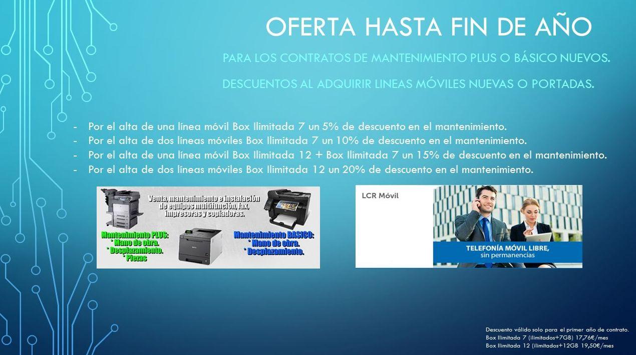 Oferta contratos + líneas móviles