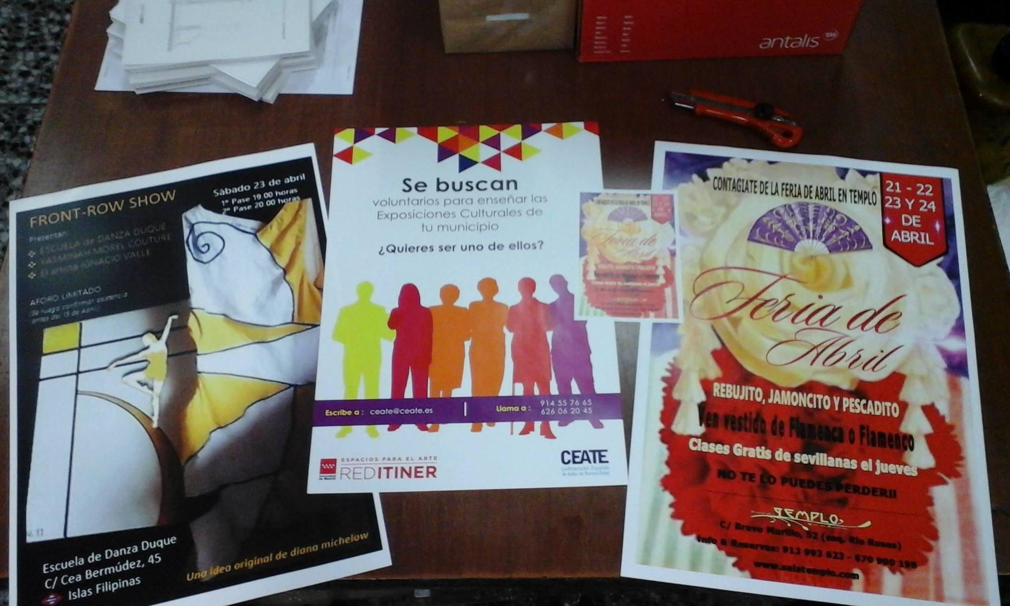 poster sy carteles para eventos en Moncloa