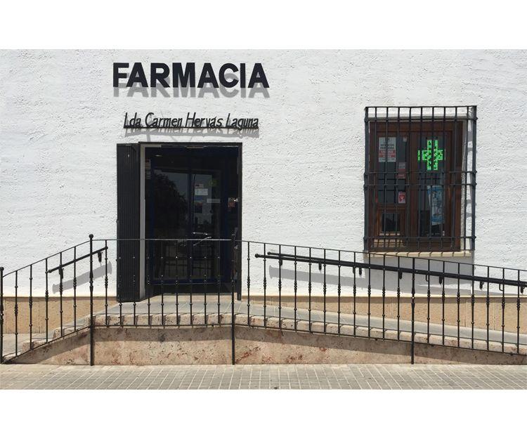 Fachada de la farmacia en Almagro