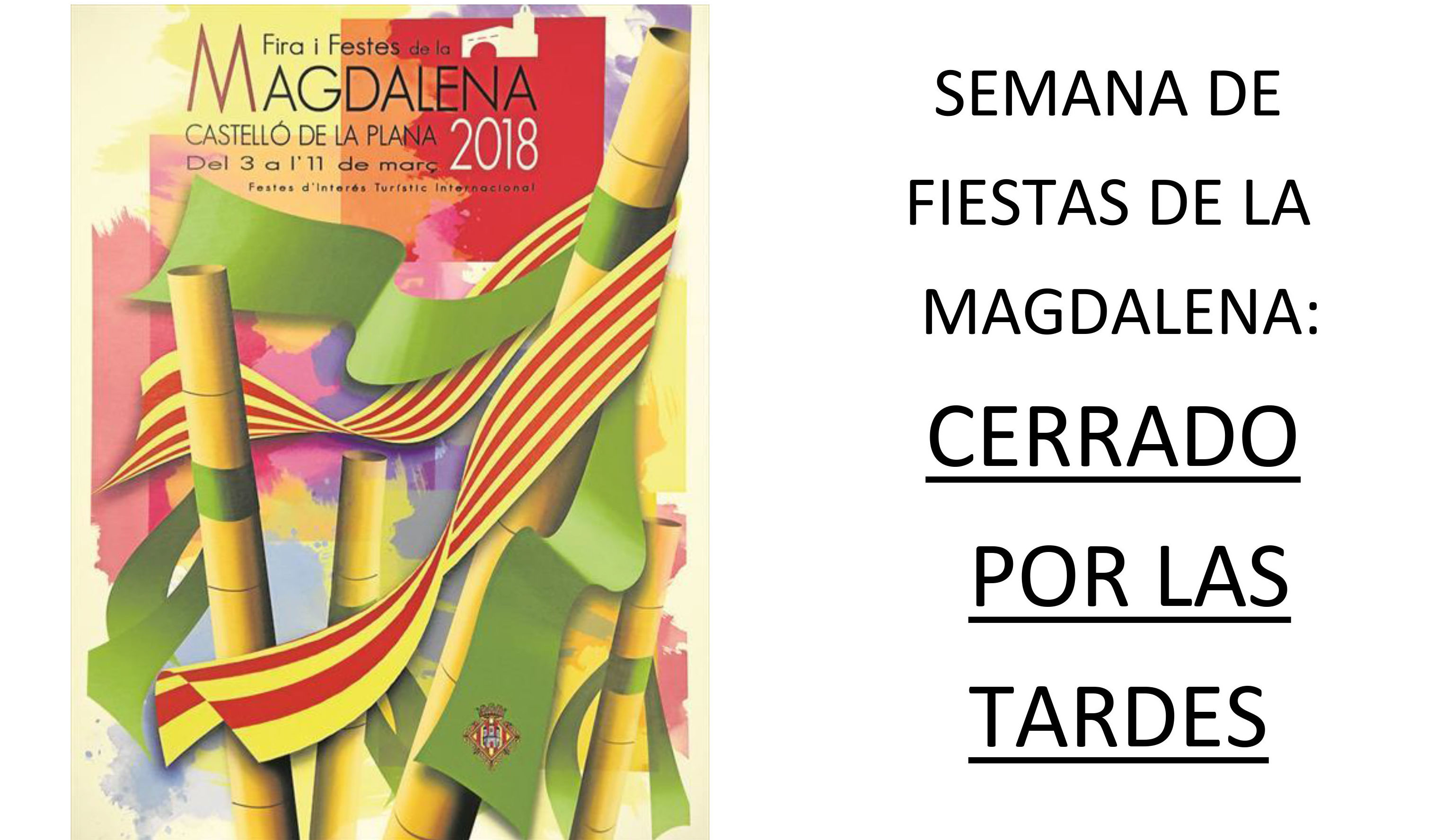 FELICES FIESTAS DE LA MAGDALENA 2018