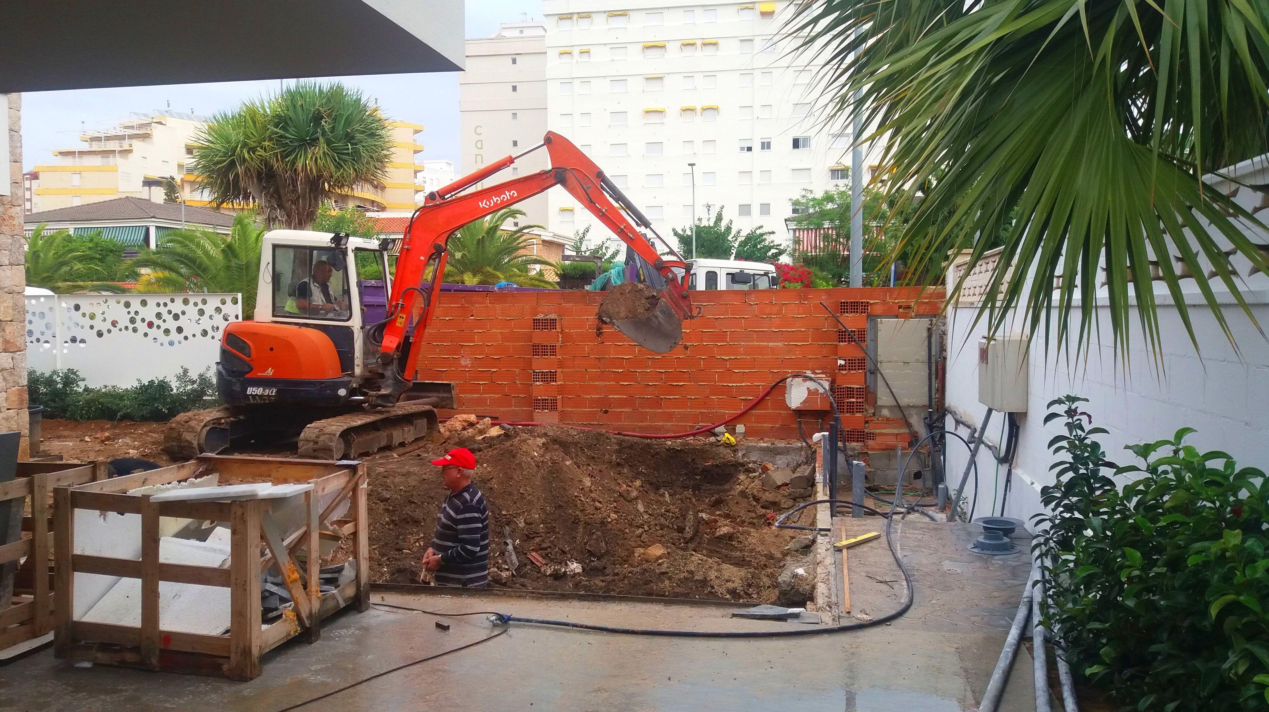 Nuevo proyecto de construcción de piscina