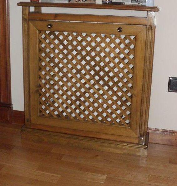 Cubreradiadores a medida en madera maciza