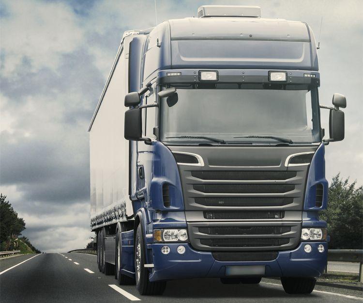 Empresa de transportes con camiones frigoríficos