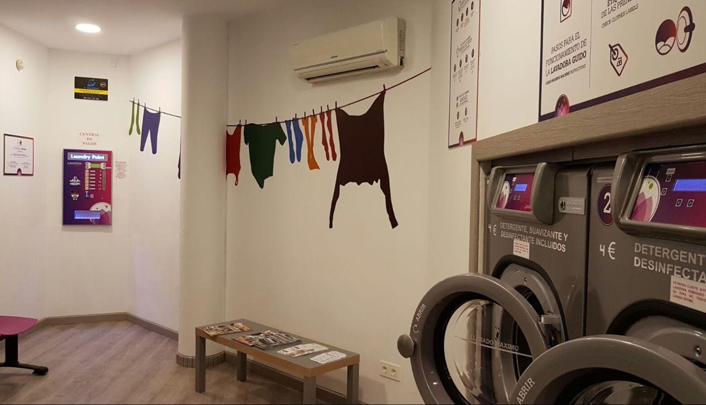 Lavandería limpia y agradable en Zaragoza