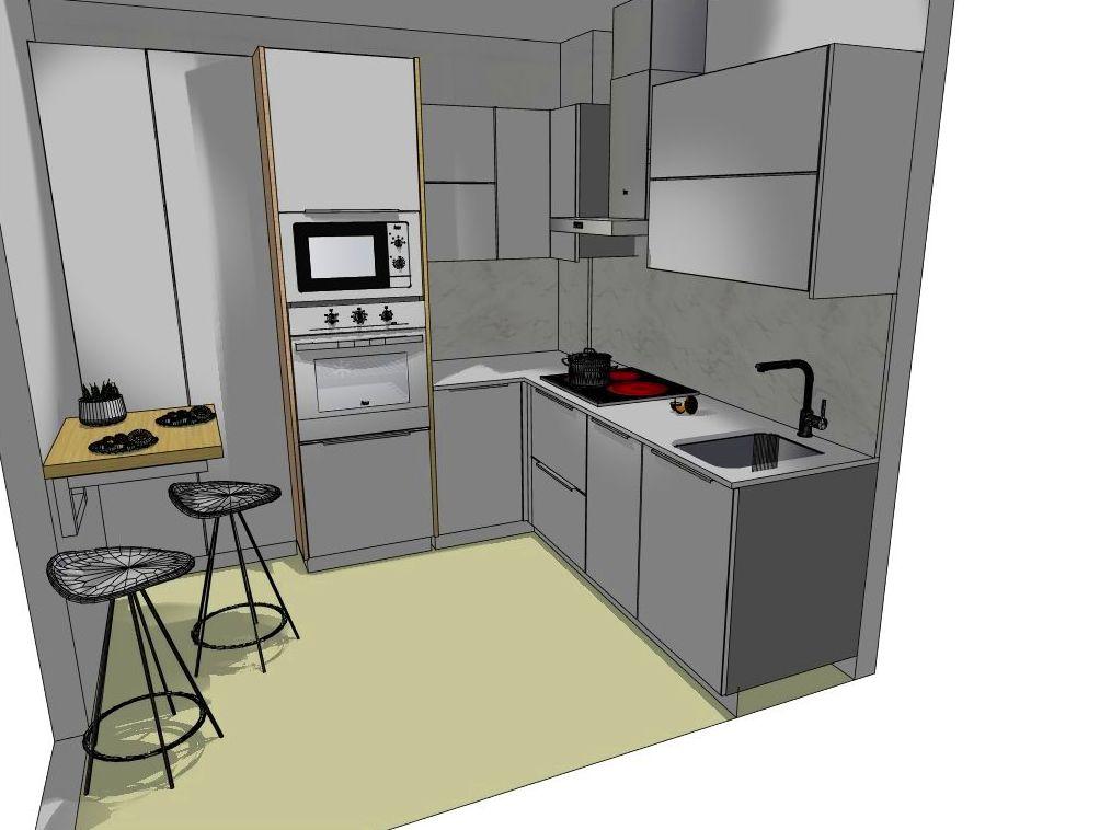 Aprovechamiento de  espacio en la cocina