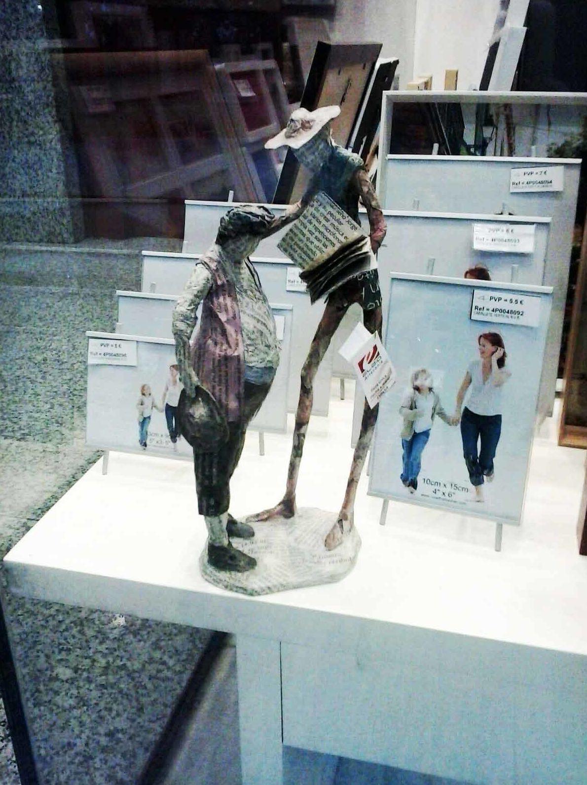 Esculturas Don Quijote y Sancho Panza de Elbio Gutierrez