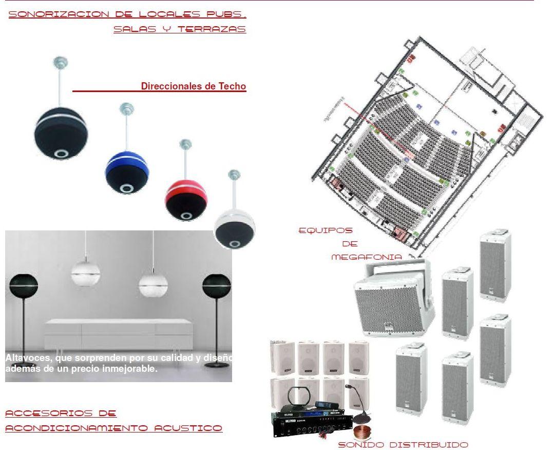 Sonorización de Salas: Productos y servicios   de Spl-acústica ambiental S.L