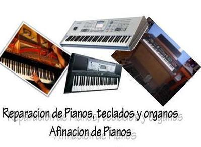 Reparación de pianos, teclados y órganos