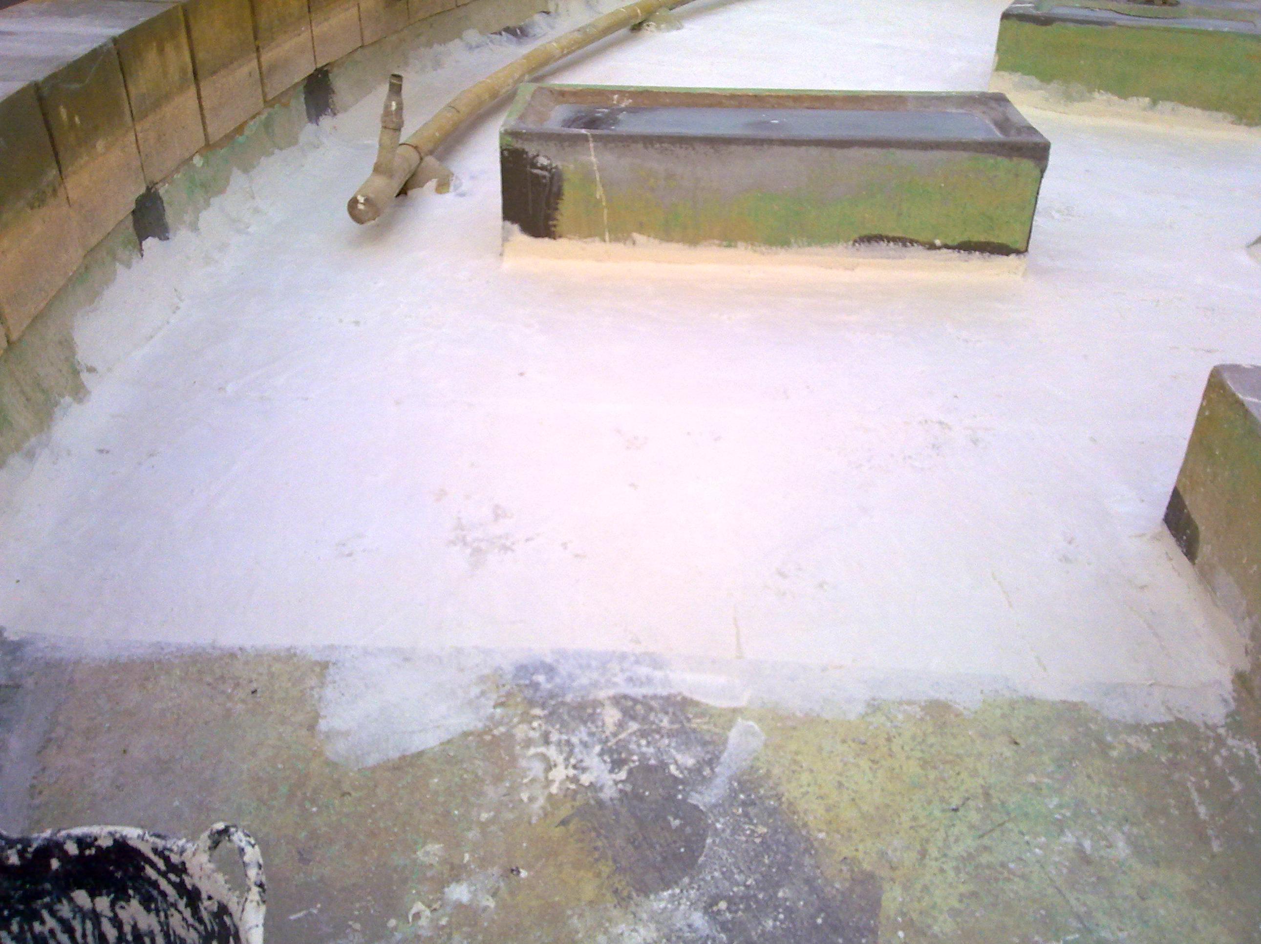 Reparación e impermeabilización de la fuente de la Glorieta de Guzmán El Bueno en León