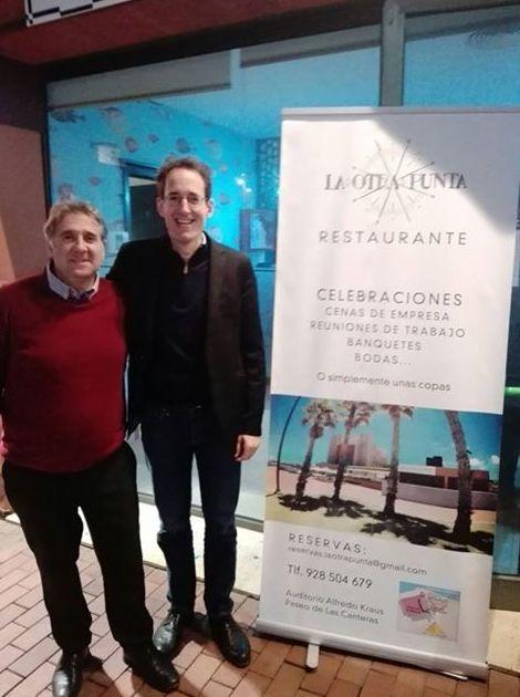 Nos visitó Pablo Gonzáles después de su actuación en el auditorio Alfredo Krauz