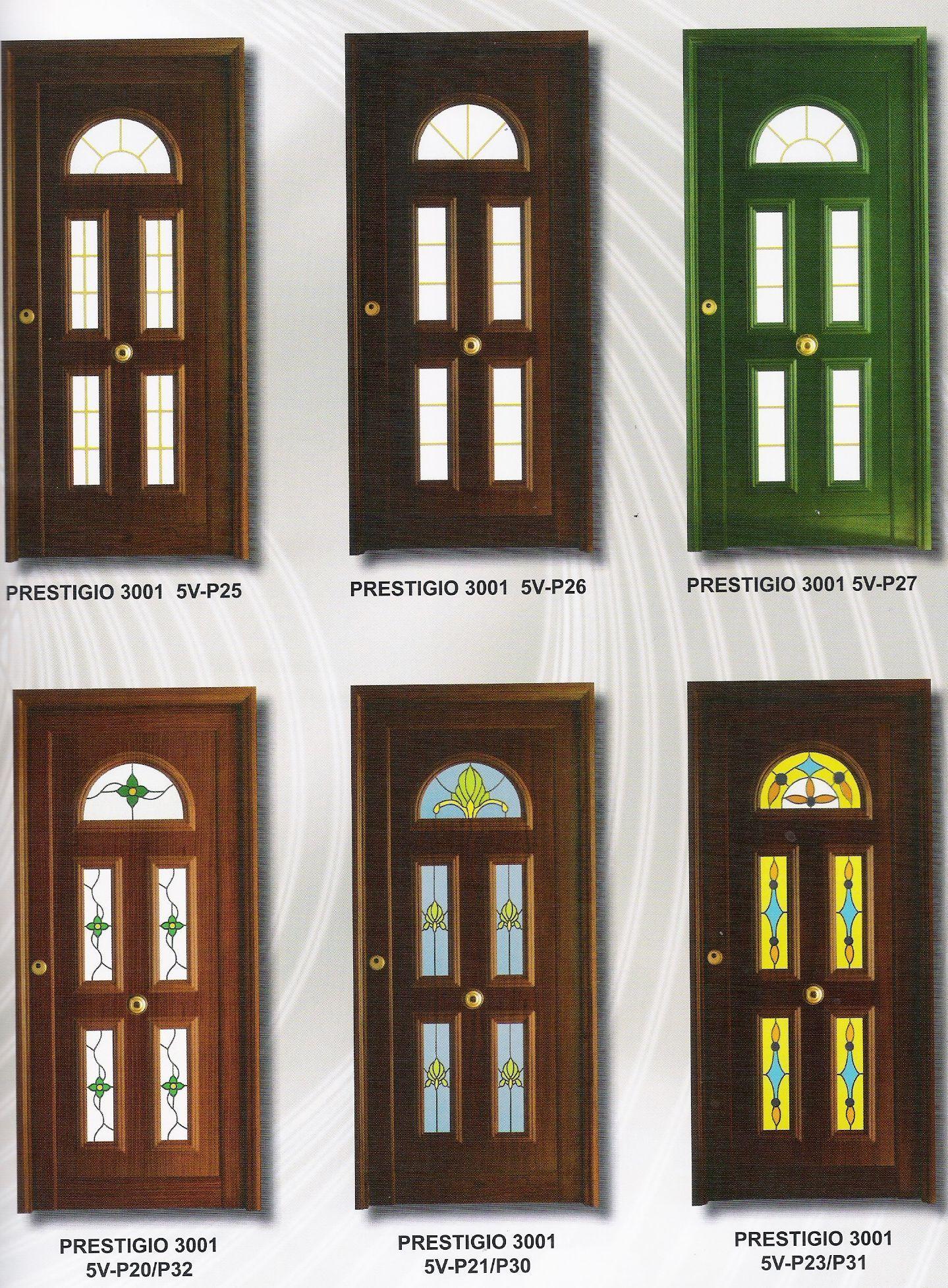 Puertas cl sicas productos y servicios de ventanas y for Catalogo puertas metalicas