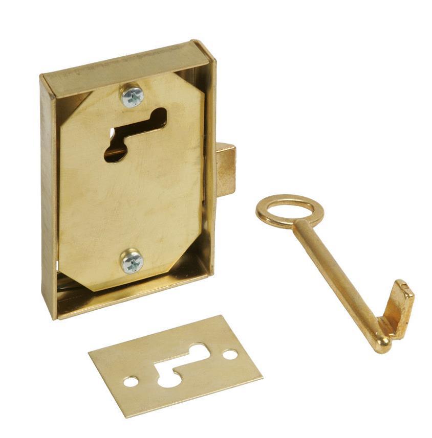 Cerradura, llave y escudo Cía de Aguas de Barcelona