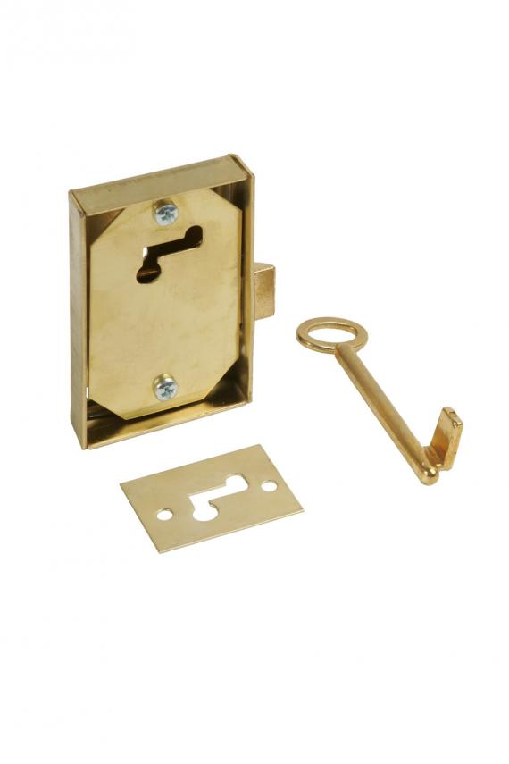 Cerradura, escudo y llave de Cía de Aguas de Bcn