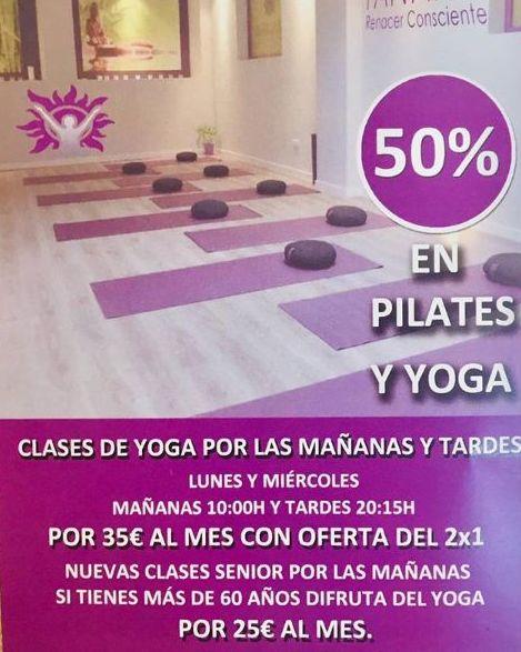 descuento clases yoga y pilates madrid carabanchel