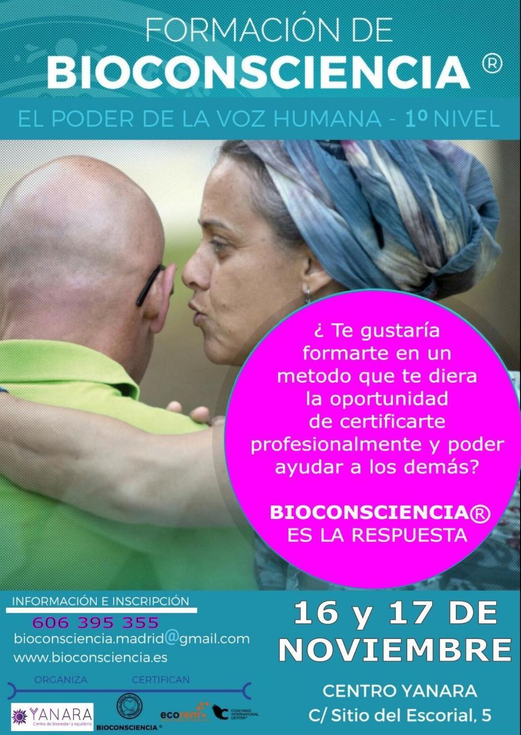 formación de bioconsciencia en Carabanchel, Madrid y Pozuelo de Alarcón