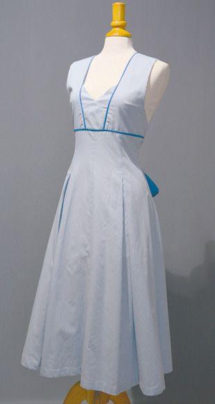 Ref. S03. Delantal largo en tonos azul: Catálogo de Del Rey Exclusivas