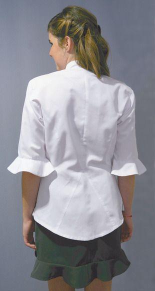 Ref. H17. Camisa blanca entallada con volantes en la delantera: Catálogo de Del Rey Exclusivas