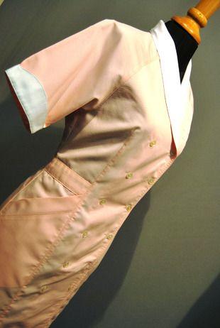 Ref. S17. Bata color salmón combinada con blanco: Catálogo de Del Rey Exclusivas