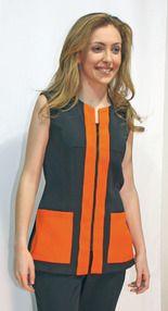 Ref. A08. Chaqueta sin mangas y detalles naranjas: Catálogo de Del Rey Exclusivas