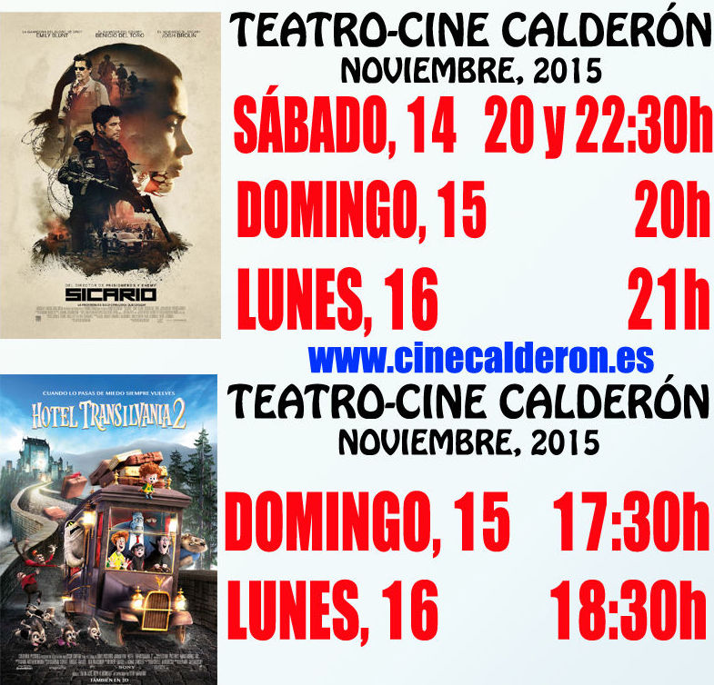 Programación: Programación y estrenos de Cine Calderón