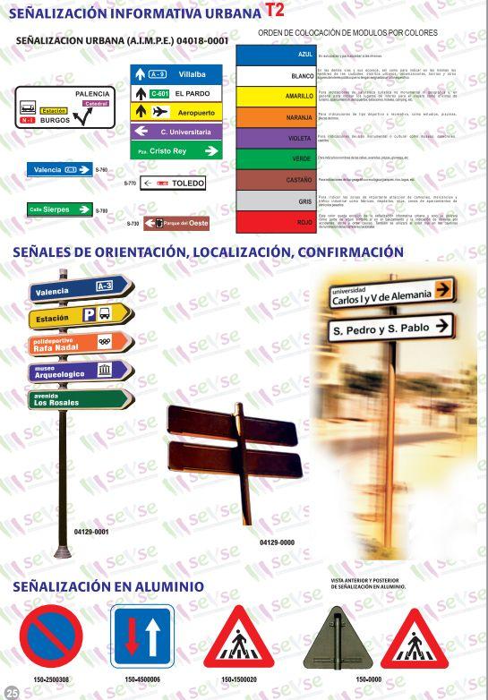 Señalización informativa urbana: Servicios de Señalización y Serigrafía