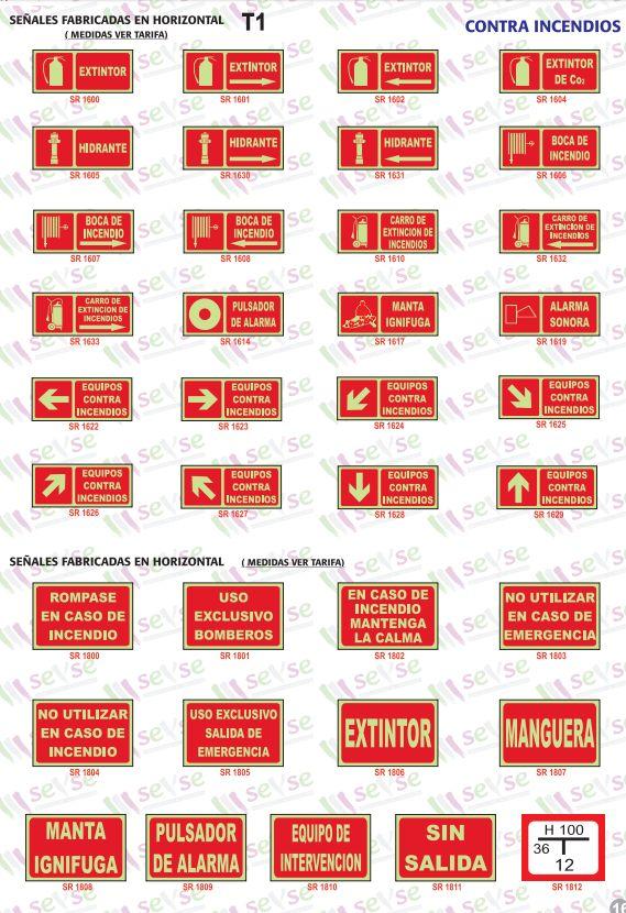 Señales de prevención de incendios luminiscentes: Servicios de Señalización y Serigrafía